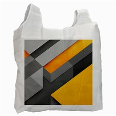 Marshmallow Yellow Recycle Bag (One Side)