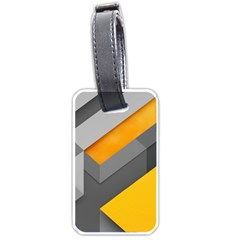 Marshmallow Yellow Luggage Tags (Two Sides)