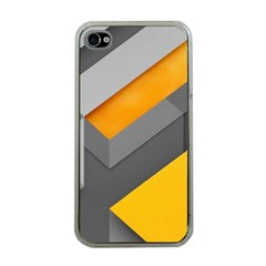Marshmallow Yellow Apple iPhone 4 Case (Clear)