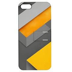 Marshmallow Yellow Apple iPhone 5 Hardshell Case with Stand