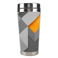 Marshmallow Yellow Stainless Steel Travel Tumblers