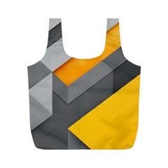 Marshmallow Yellow Full Print Recycle Bags (M)
