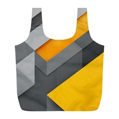 Marshmallow Yellow Full Print Recycle Bags (L)