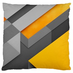 Marshmallow Yellow Large Flano Cushion Case (Two Sides)