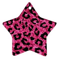 SKN5 BK-PK MARBLE Ornament (Star)