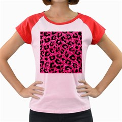 SKN5 BK-PK MARBLE Women s Cap Sleeve T-Shirt