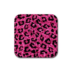 Skin5 Black Marble & Pink Marble Rubber Coaster (square)