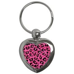 SKN5 BK-PK MARBLE Key Chains (Heart)