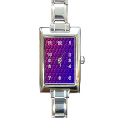 Outstanding Hexagon Blue Purple Rectangle Italian Charm Watch