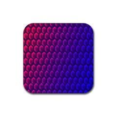 Outstanding Hexagon Blue Purple Rubber Coaster (Square)