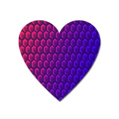 Outstanding Hexagon Blue Purple Heart Magnet