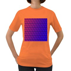 Outstanding Hexagon Blue Purple Women s Dark T-Shirt