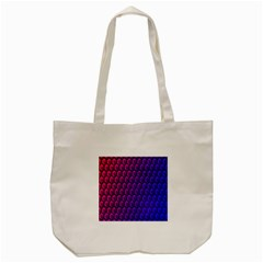 Outstanding Hexagon Blue Purple Tote Bag (Cream)