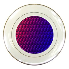 Outstanding Hexagon Blue Purple Porcelain Plates