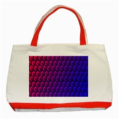 Outstanding Hexagon Blue Purple Classic Tote Bag (Red)