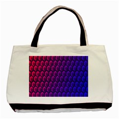 Outstanding Hexagon Blue Purple Basic Tote Bag (Two Sides)