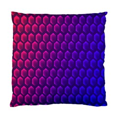 Outstanding Hexagon Blue Purple Standard Cushion Case (Two Sides)