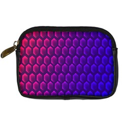 Outstanding Hexagon Blue Purple Digital Camera Cases