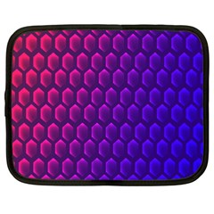Outstanding Hexagon Blue Purple Netbook Case (XXL)