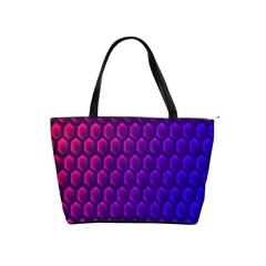 Outstanding Hexagon Blue Purple Shoulder Handbags