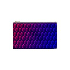 Outstanding Hexagon Blue Purple Cosmetic Bag (Small)