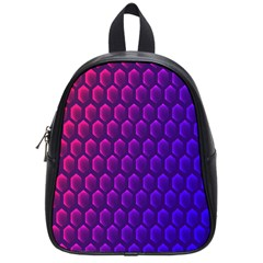 Outstanding Hexagon Blue Purple School Bags (Small)
