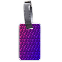 Outstanding Hexagon Blue Purple Luggage Tags (One Side)