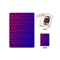 Outstanding Hexagon Blue Purple Playing Cards (Mini)
