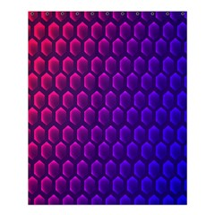Outstanding Hexagon Blue Purple Shower Curtain 60  x 72  (Medium)