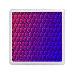 Outstanding Hexagon Blue Purple Memory Card Reader (Square)