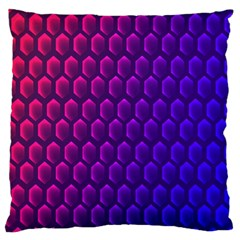 Outstanding Hexagon Blue Purple Large Cushion Case (One Side)