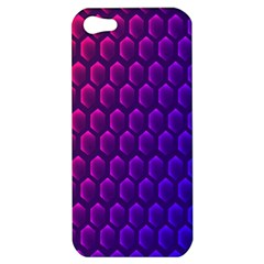 Outstanding Hexagon Blue Purple Apple iPhone 5 Hardshell Case