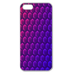 Outstanding Hexagon Blue Purple Apple Seamless iPhone 5 Case (Clear)