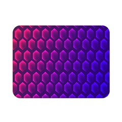 Outstanding Hexagon Blue Purple Double Sided Flano Blanket (Mini)