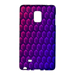 Outstanding Hexagon Blue Purple Galaxy Note Edge
