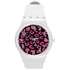 SKN5 BK-PK MARBLE (R) Round Plastic Sport Watch (M)