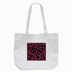 SKN5 BK-PK MARBLE (R) Tote Bag (White)