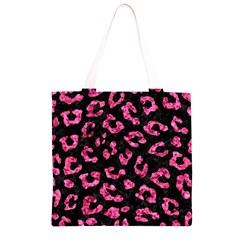 SKN5 BK-PK MARBLE (R) Grocery Light Tote Bag
