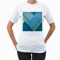New Bok Blue Women s T-Shirt (White) (Two Sided)