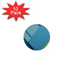 New Bok Blue 1  Mini Buttons (10 pack)