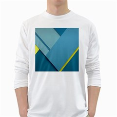 New Bok Blue White Long Sleeve T-Shirts