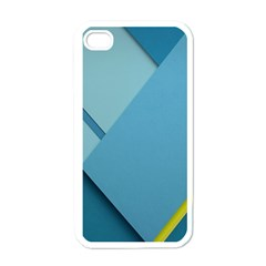 New Bok Blue Apple iPhone 4 Case (White)