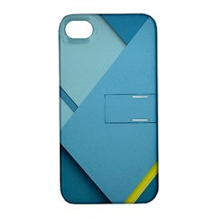 New Bok Blue Apple iPhone 4/4S Hardshell Case with Stand
