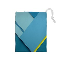 New Bok Blue Drawstring Pouches (Medium)