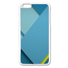New Bok Blue Apple iPhone 6 Plus/6S Plus Enamel White Case