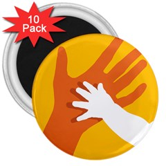 Hand Mom Soon Cute Mains Copy 3  Magnets (10 pack)