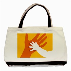 Hand Mom Soon Cute Mains Copy Basic Tote Bag (Two Sides)