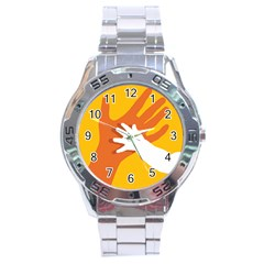 Hand Mom Soon Cute Mains Copy Stainless Steel Analogue Watch