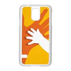 Hand Mom Soon Cute Mains Copy Samsung Galaxy S5 Case (White)