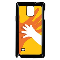 Hand Mom Soon Cute Mains Copy Samsung Galaxy Note 4 Case (Black)